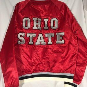 Vintage Red OH State Jacket American Eagle L 42-44